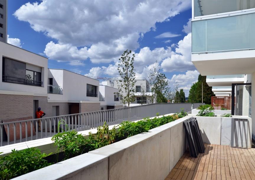 Les terrasses du RDC sur le jardin intérieur