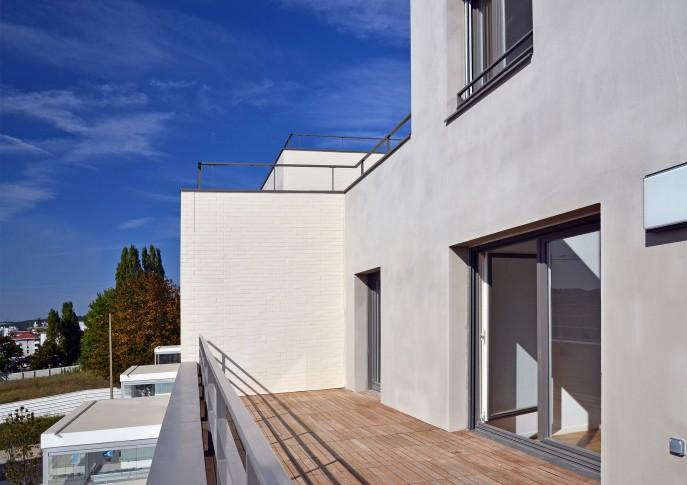 La terrasse d'un logement duplex