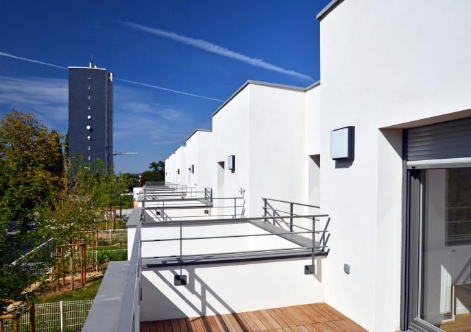 Les terrasses des maisons du lot B1