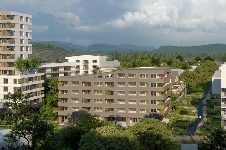 Concours  200 logements en équipe sur macrolot : Jim Clemes Associates (Mandataire) / K-hut / Atelier vagabond  / Atelier NDF paysage MOA : COdev | Nouvel Habitat