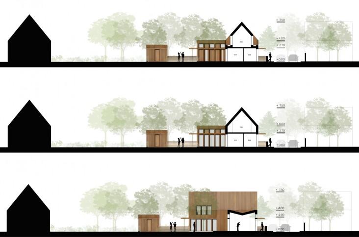 13 logements individuels groupés locatifs sociaux dans les Yvelines - Façades