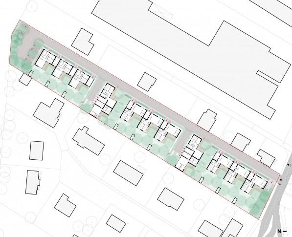 13 logements individuels groupés locatifs sociaux dans les Yvelines - RDC général