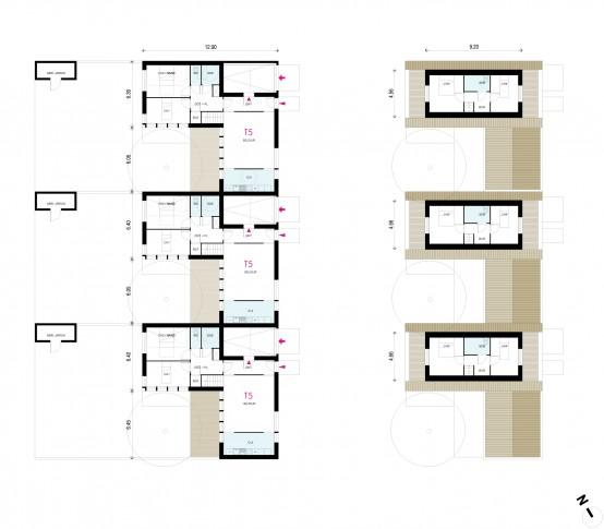 13 logements individuels groupés locatifs sociaux dans les Yvelines - RDC Unité résidentielle 1
