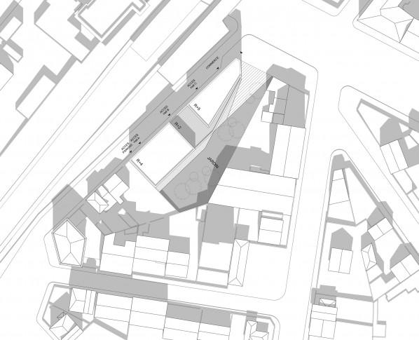 29 logements collectifs locatifs sociaux et une surface commerciale dans le Val-De-marne - Plan masse