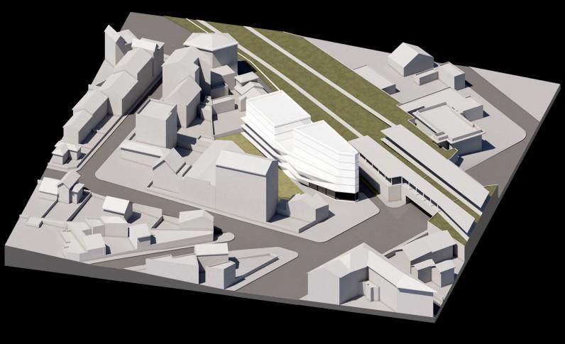 29 logements collectifs locatifs sociaux et une surface commerciale dans  le Val-De-marne - Vue sud-est