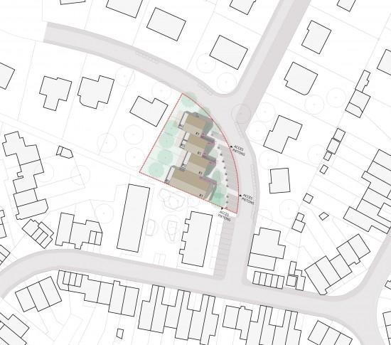 Plan masse lot 4 / Sur un délaissé urbain