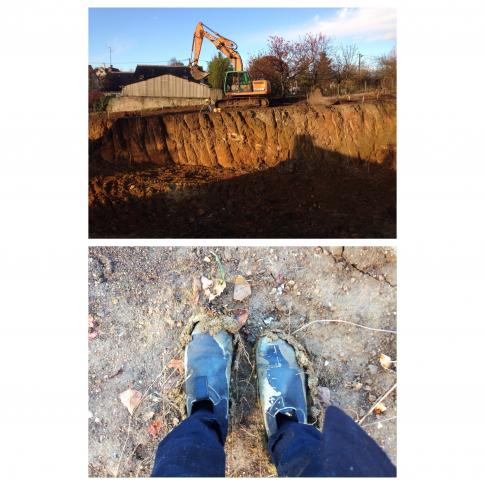 Novembre 2016 - Terrassements dans la boue...