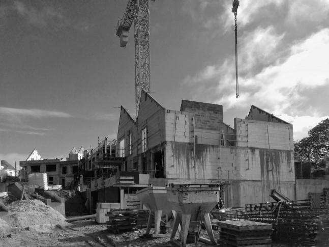 Mi mai 2017 - Les collectifs avant construction des maisons accolées et toit