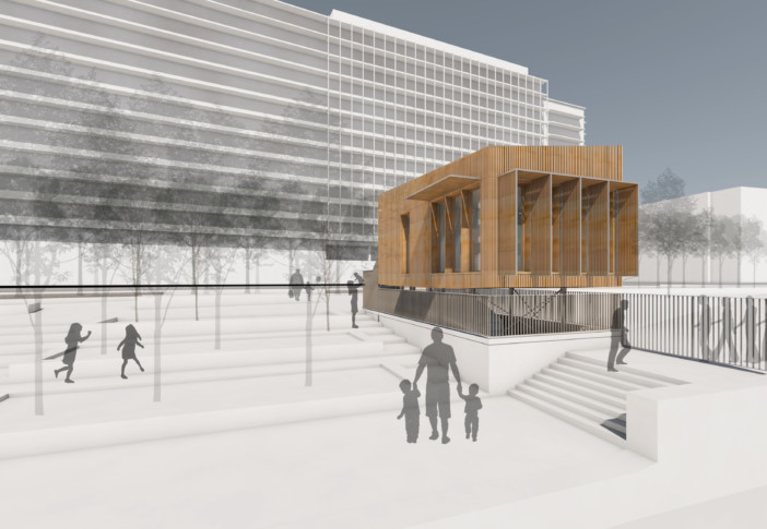 MOA : Haropa ports de Paris MOE urbaine et paysagère : Yuli Atanassov MOE architecturale et AMO : K-HUT